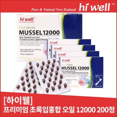 [초록홍합 오일] Mussel Oil 10000 200정 1개(하이웰)