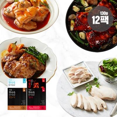 [헬스앤뷰티] 닭가슴살 4종 12팩